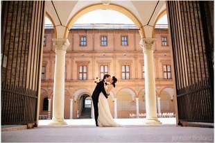 Sala dei Mori in Palazzo dei Pio in Carpi servizio fotografico matrimonio