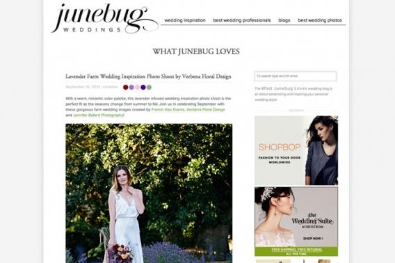 Lavender Wedding Inspiration Junebug