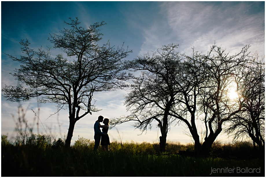 Ontario Farm Engagement Silhouette Sunset Photography