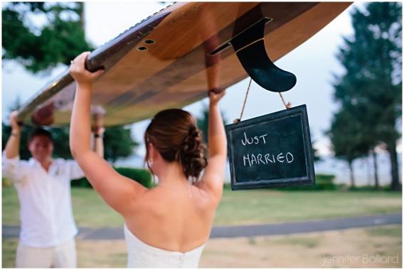 Cox Bay Beach Tofino Wedding Photographer Just Married Surfboard