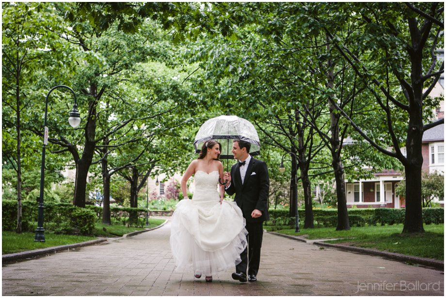 Rainy wedding day University of Toronto